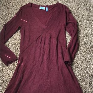 Dresses & Skirts - Burgundy sweater dress size medium